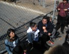 Protesters outside of Adelanto's detention center. Photo by John Washington