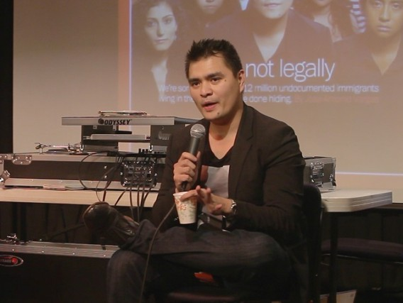 Jose Antonio Vargas at La Peña Cultural Center, June 26 (Reed Rickert)